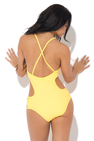 South Beach Yellow Monokini - Fashion Effect Store  - 2