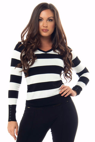 Toni Striped Sweater - Fashion Effect Store  - 1