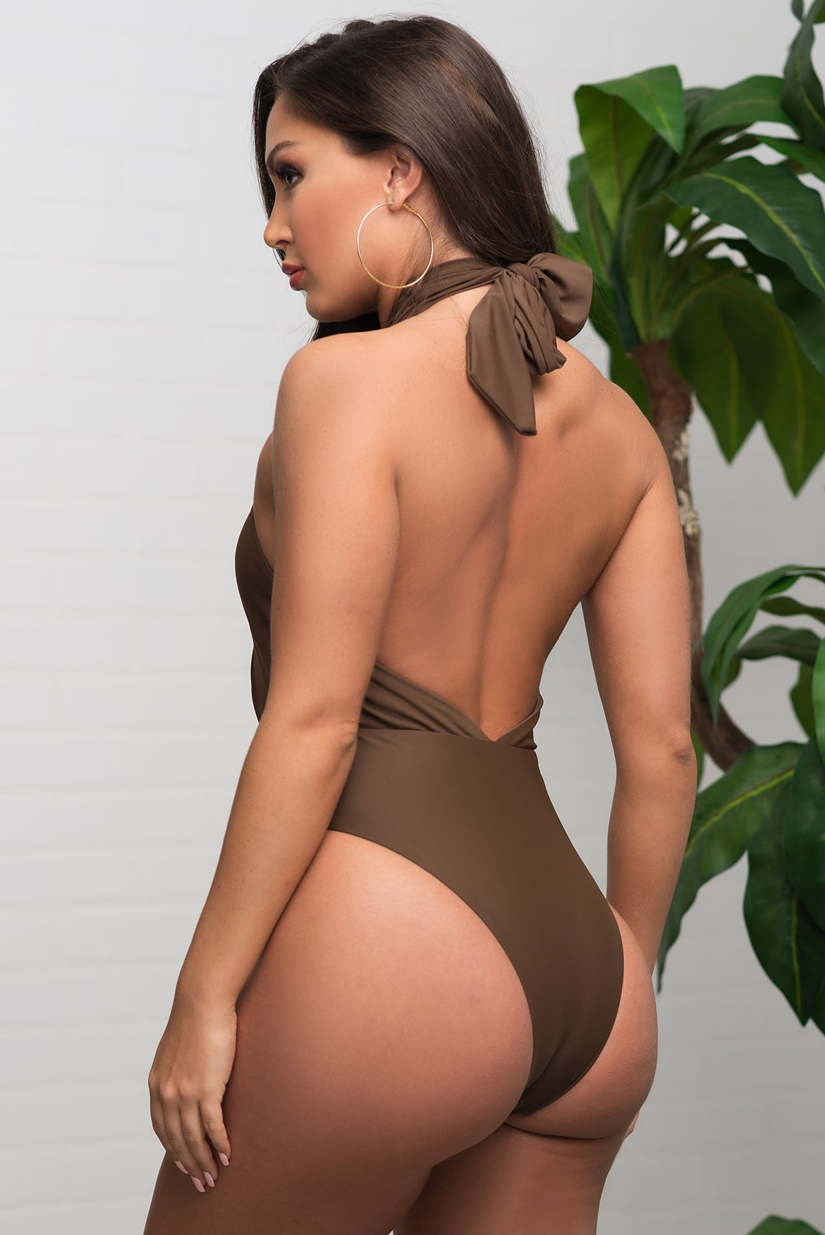 Coco Bay One Piece Swimsuit - Brown