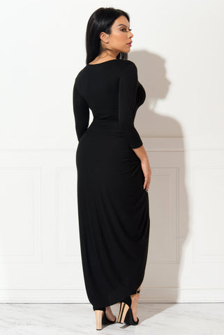 Jocelyn Black Dress - Fashion Effect Store  - 2