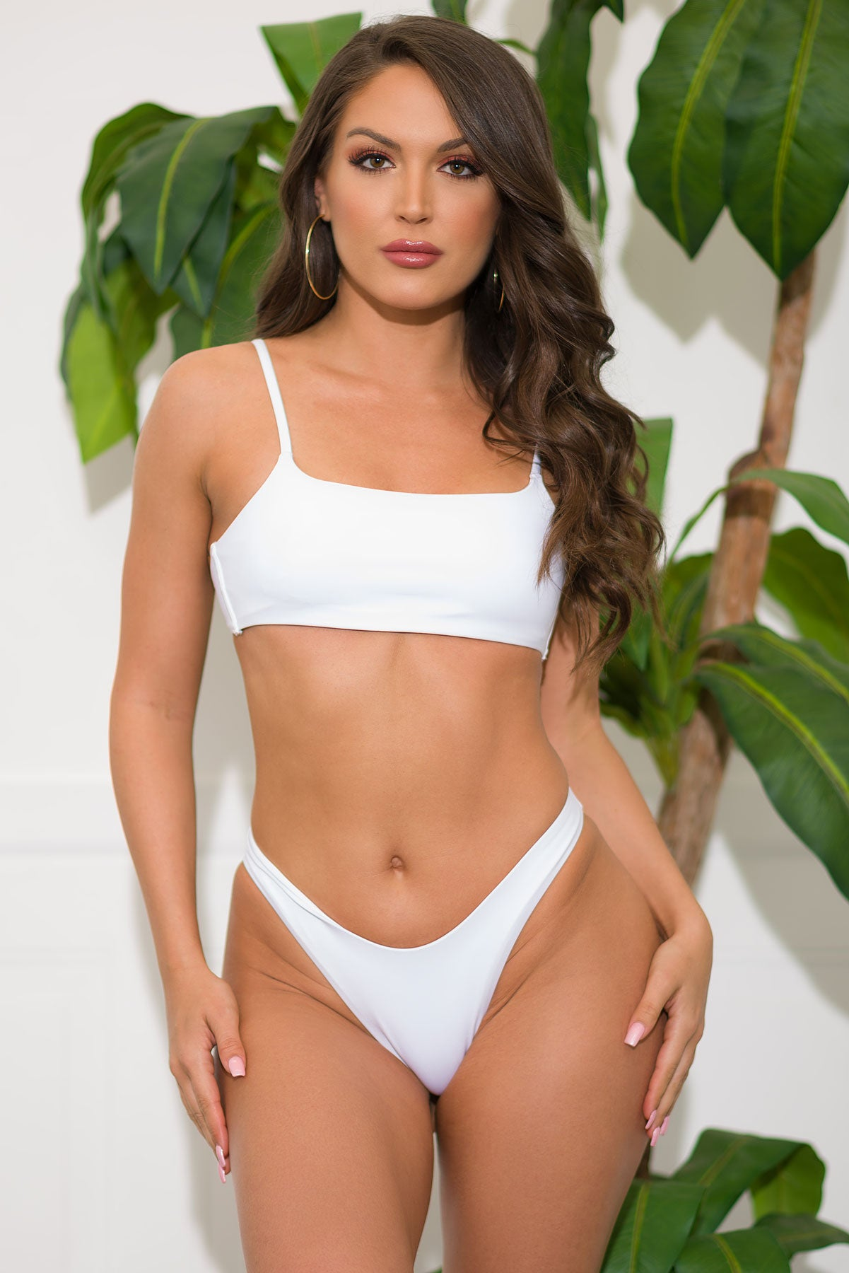 Key West Beach Two Piece Swimsuit - White