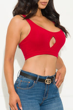 Zoe Crop Top Red