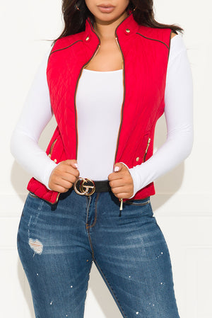Wild Night Out Vest Red