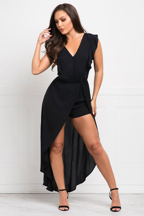 Maribel Romper - Black