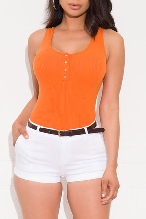 Breaking It Down Bodysuit Carrot Orange
