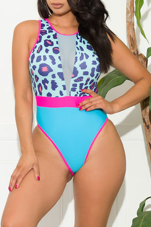 Dewey Beach One Piece Swimsuit Pink Teal