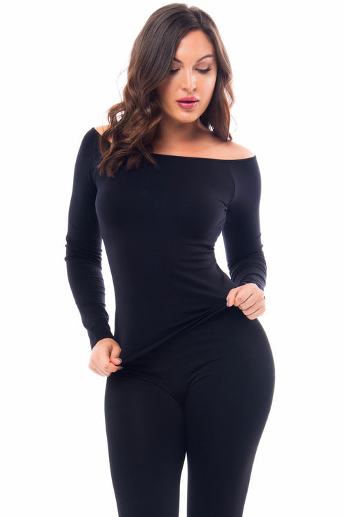 Basic Black Top Long Sleeve - Fashion Effect Store  - 1
