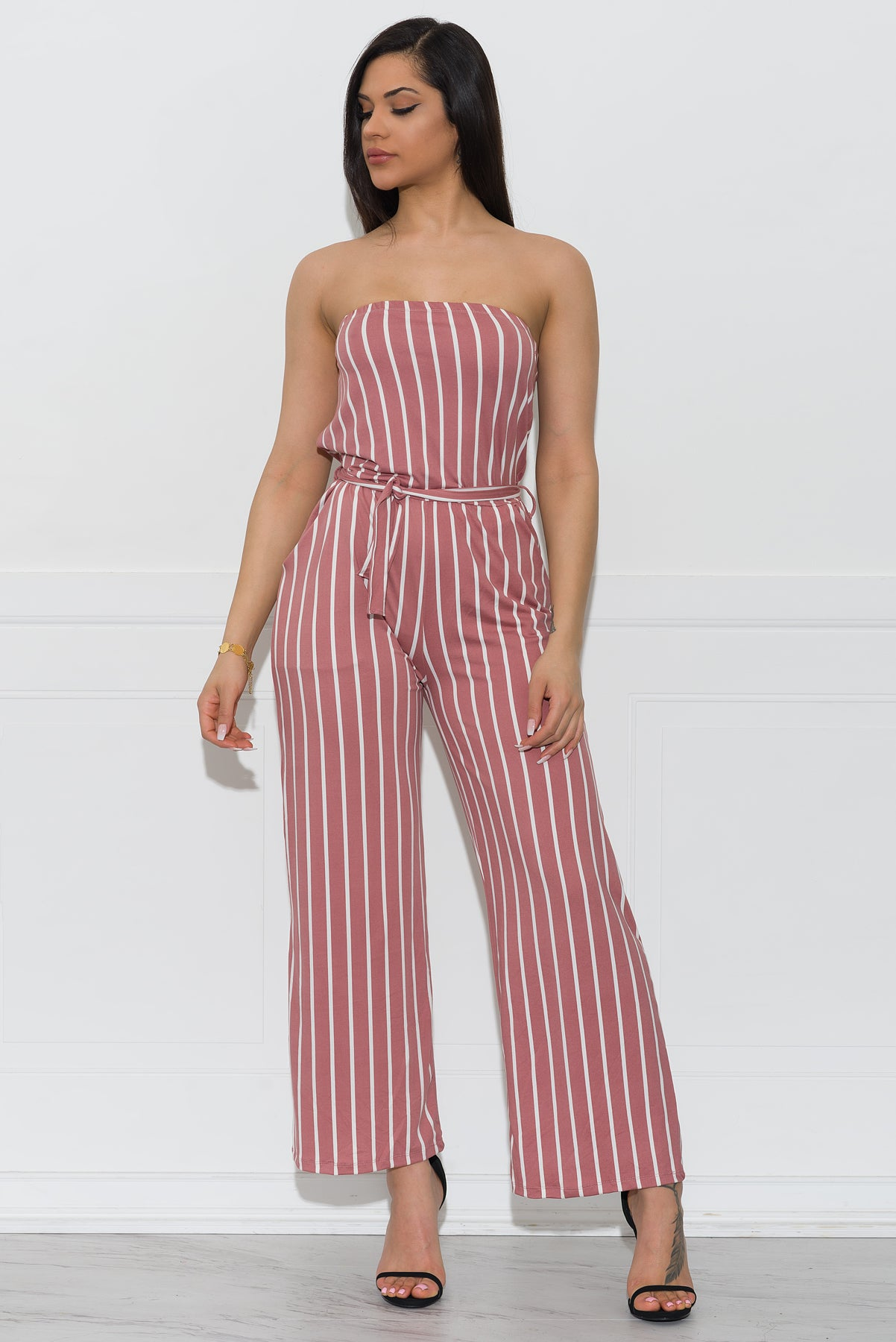 29110620fd75 Tiffany Striped Jumpsuit - Pink – Fashion Effect Store