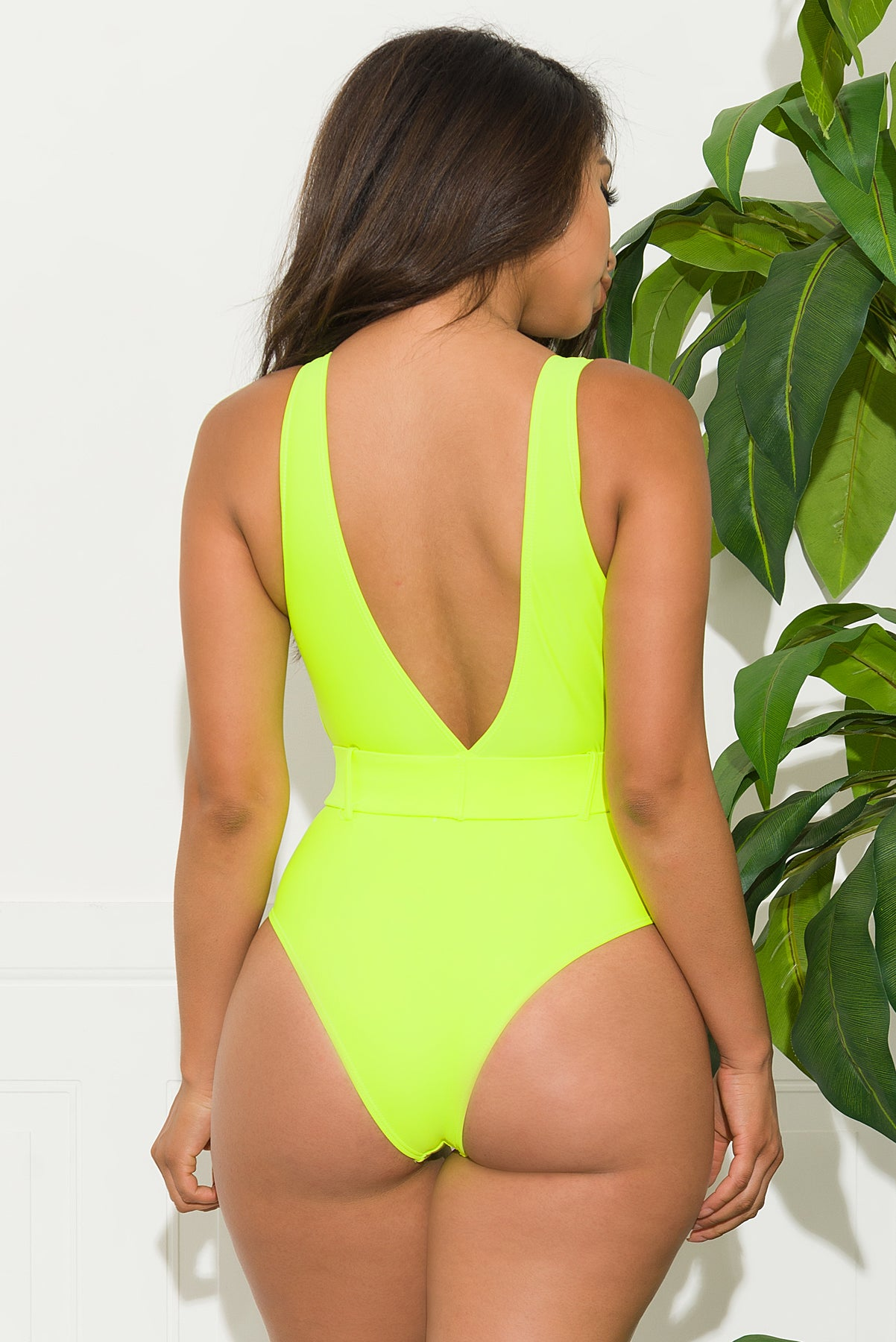 West Coast One Piece Swimsuit - Neon Green