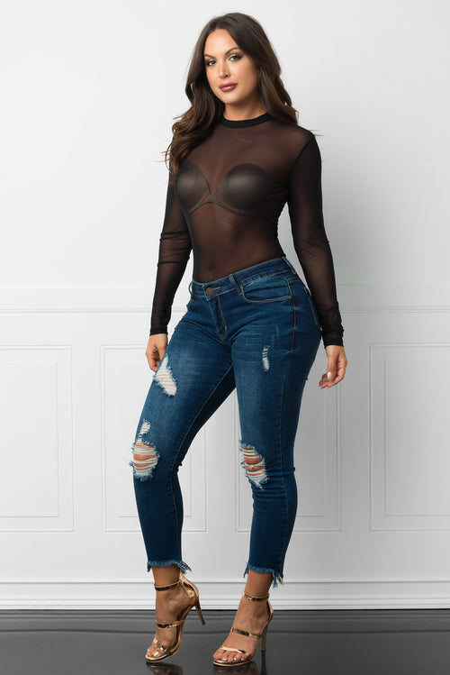 Saidey Long Sleeve Top Black
