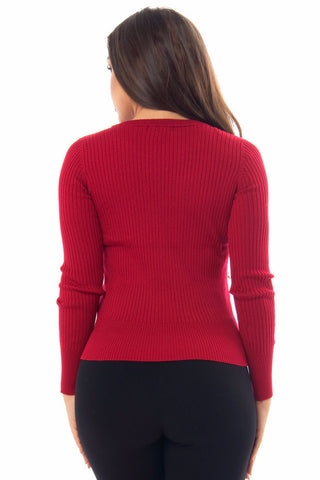 Quinn Red Sweater - Fashion Effect Store  - 2