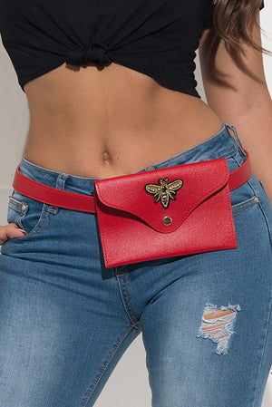Fanny Pack Style Bag - Red
