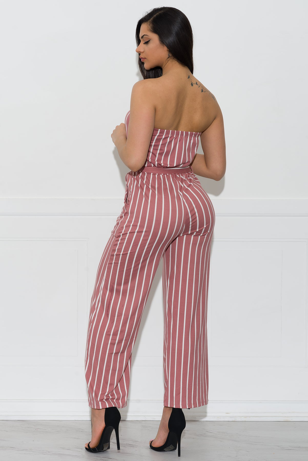 Tiffany Striped Jumpsuit - Pink