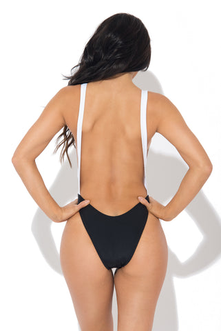 Palm Beach Monokini Black & White - Fashion Effect Store  - 2