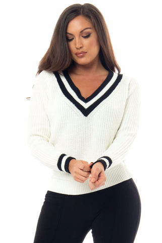 Renee Black & White Sweater - Fashion Effect Store  - 1