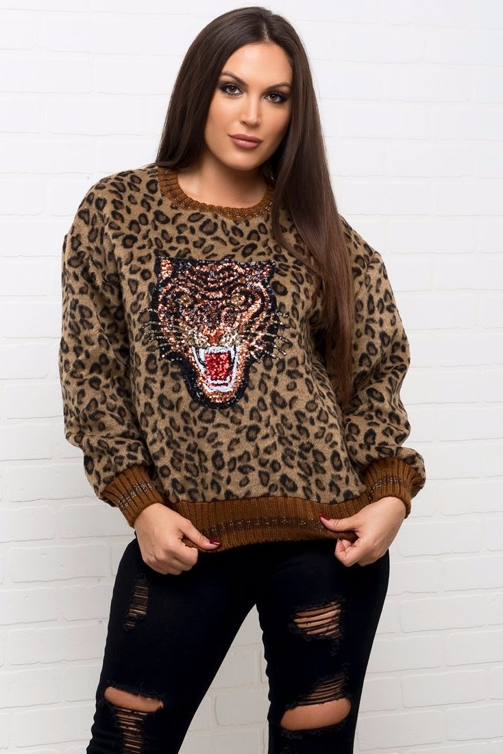 Kristy Animal Print Sweater