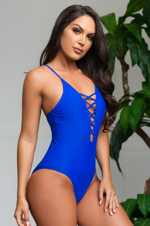 Infinite Cove One Piece Swimsuit  Royal Blue