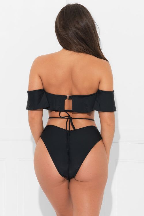 Black Coast Two Piece Swimsuit