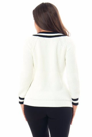 Renee Black & White Sweater - Fashion Effect Store  - 2