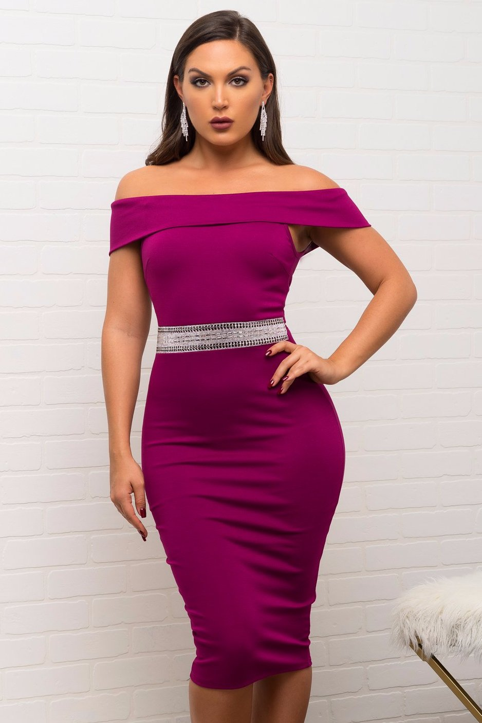 Blake Dress - Purple – Fashion Effect Store