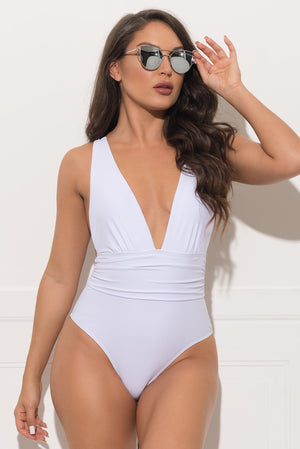 The Dark Point One Piece swimsuit White