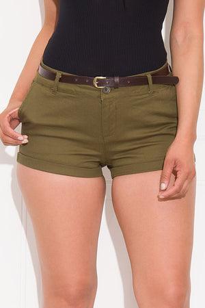 Call It A Day Shorts Olive