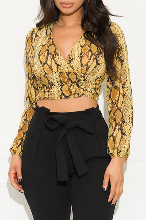 Something Different Animal Print Top