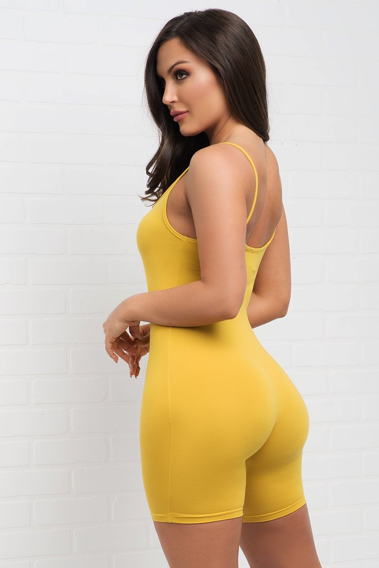 Martha Romper- Yellow
