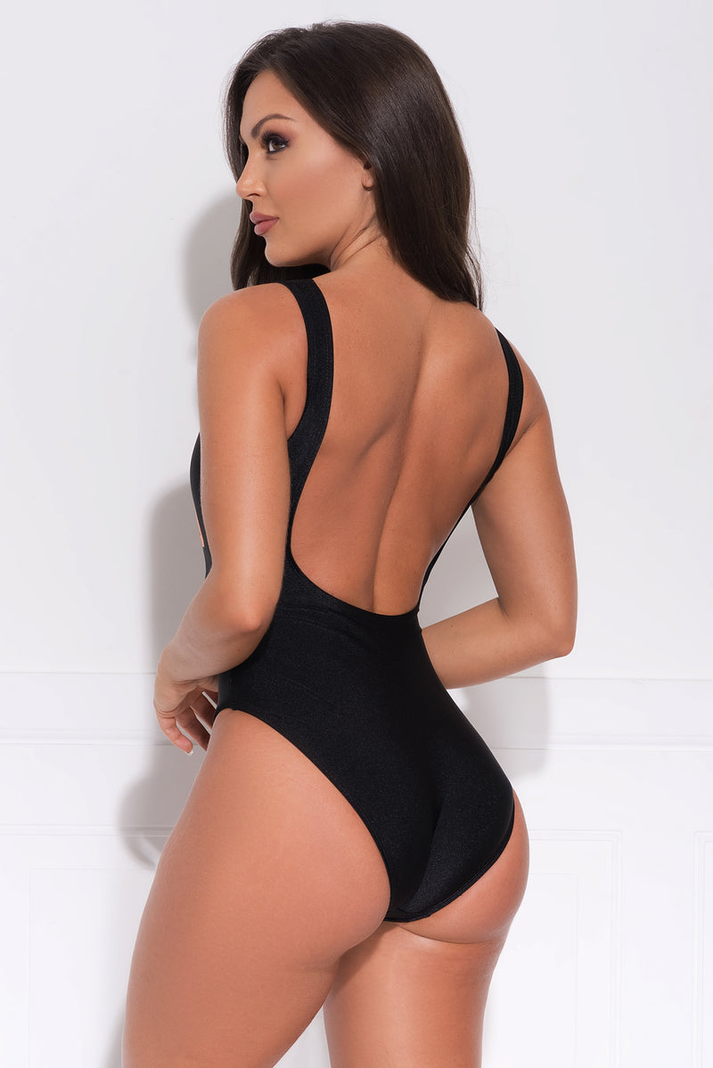 Fuego One Piece Swimsuit Black