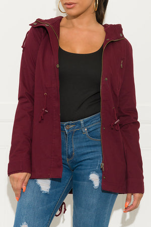 Keep Me Warm Jacket Burgundy