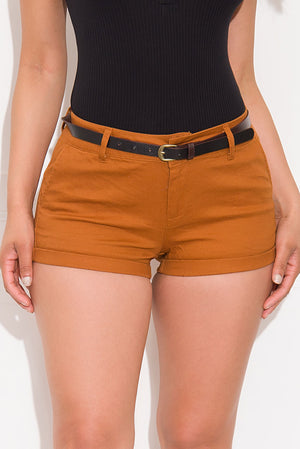 Call It A Day Shorts Caramel