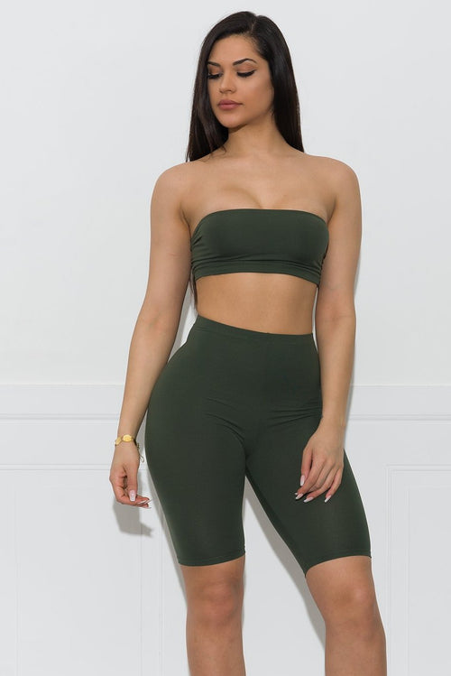 Aria Two Piece Set - Olive