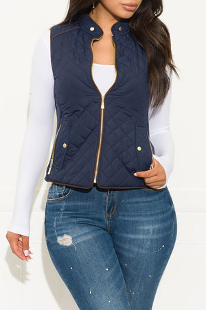 Wild Night Out Vest Navy Blue