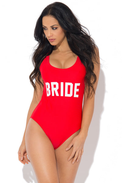 Bride One Piece Swimsuit RED - Fashion Effect Store  - 1