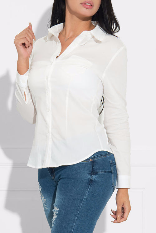 Roxanne Top White