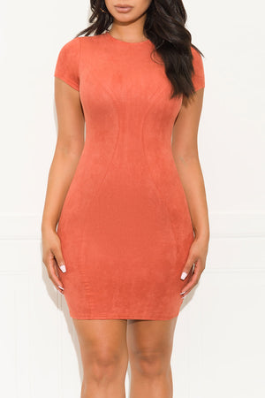 Take Me Out Dress Cinnamon