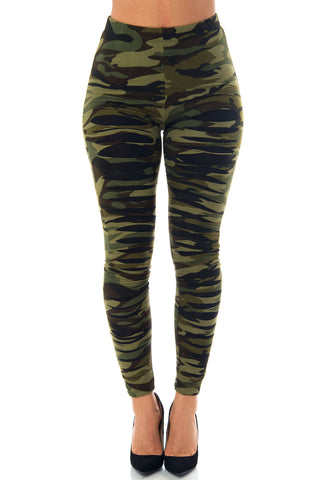 Nessa Camo Ripped Leggings - Fashion Effect Store  - 1