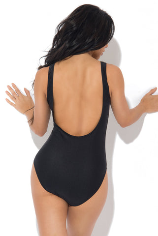 RUM + COKE One Piece Swimsuit BLACK - Fashion Effect Store  - 2