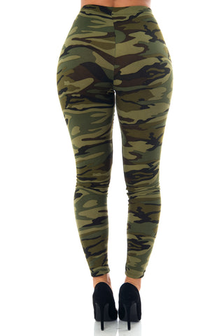 Nessa Camo Ripped Leggings - Fashion Effect Store  - 2