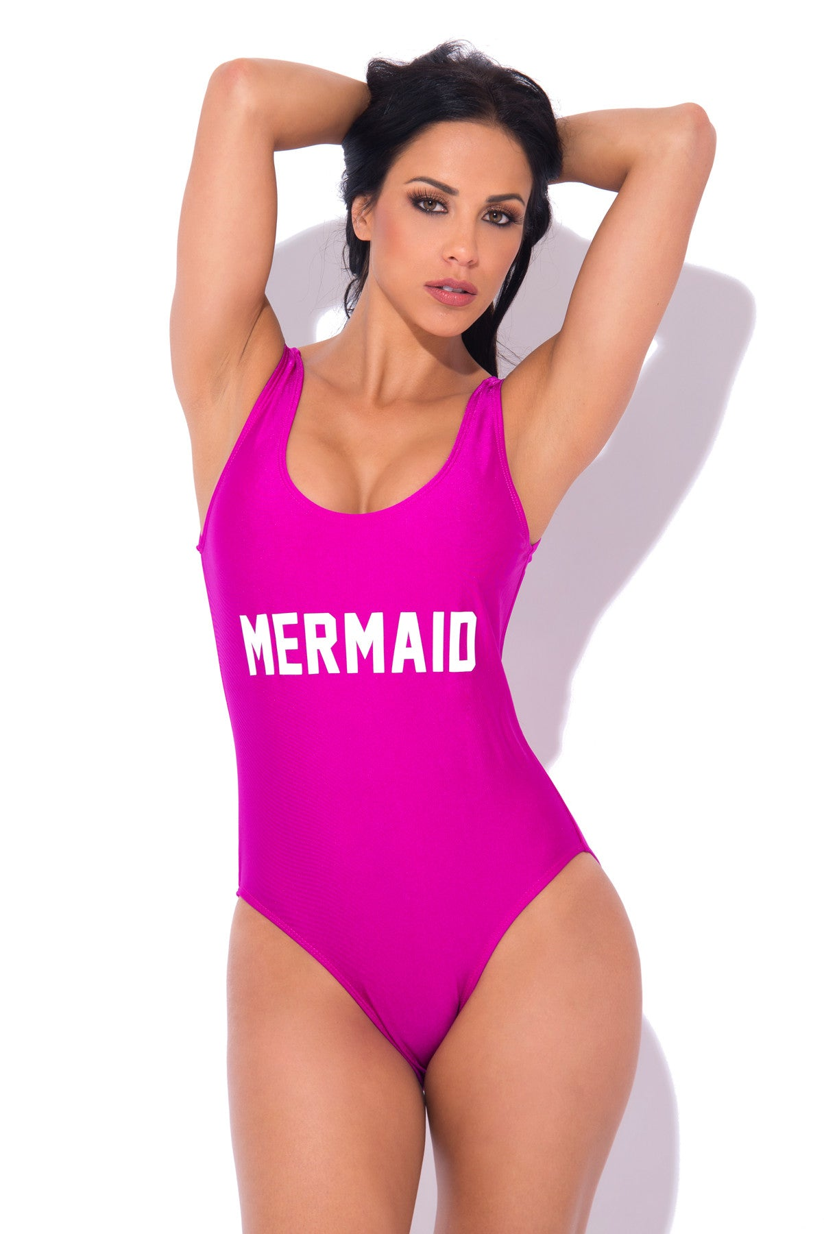 Mermaid One Piece Swimsuit PURPLE - Fashion Effect Store  - 1