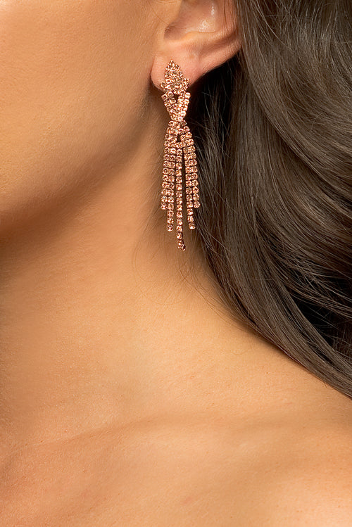 Farrah Earrings - Rose Gold