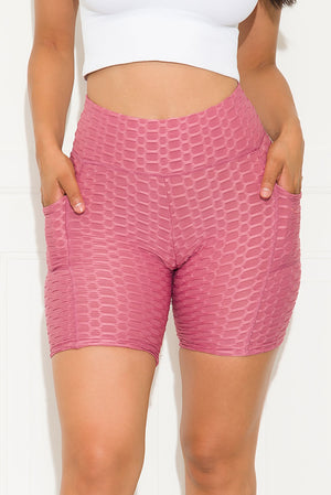 Keep It Moving  Butt Lifting Biker Short Mauve