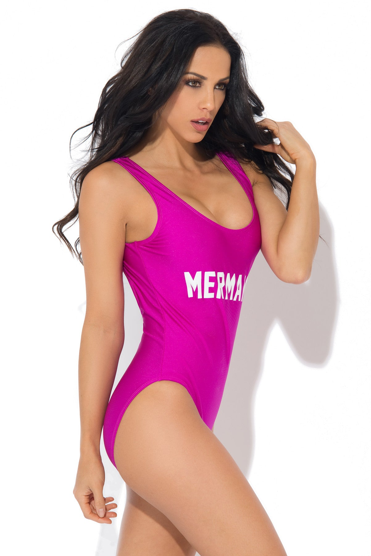 Mermaid One Piece Swimsuit PURPLE - Fashion Effect Store  - 2