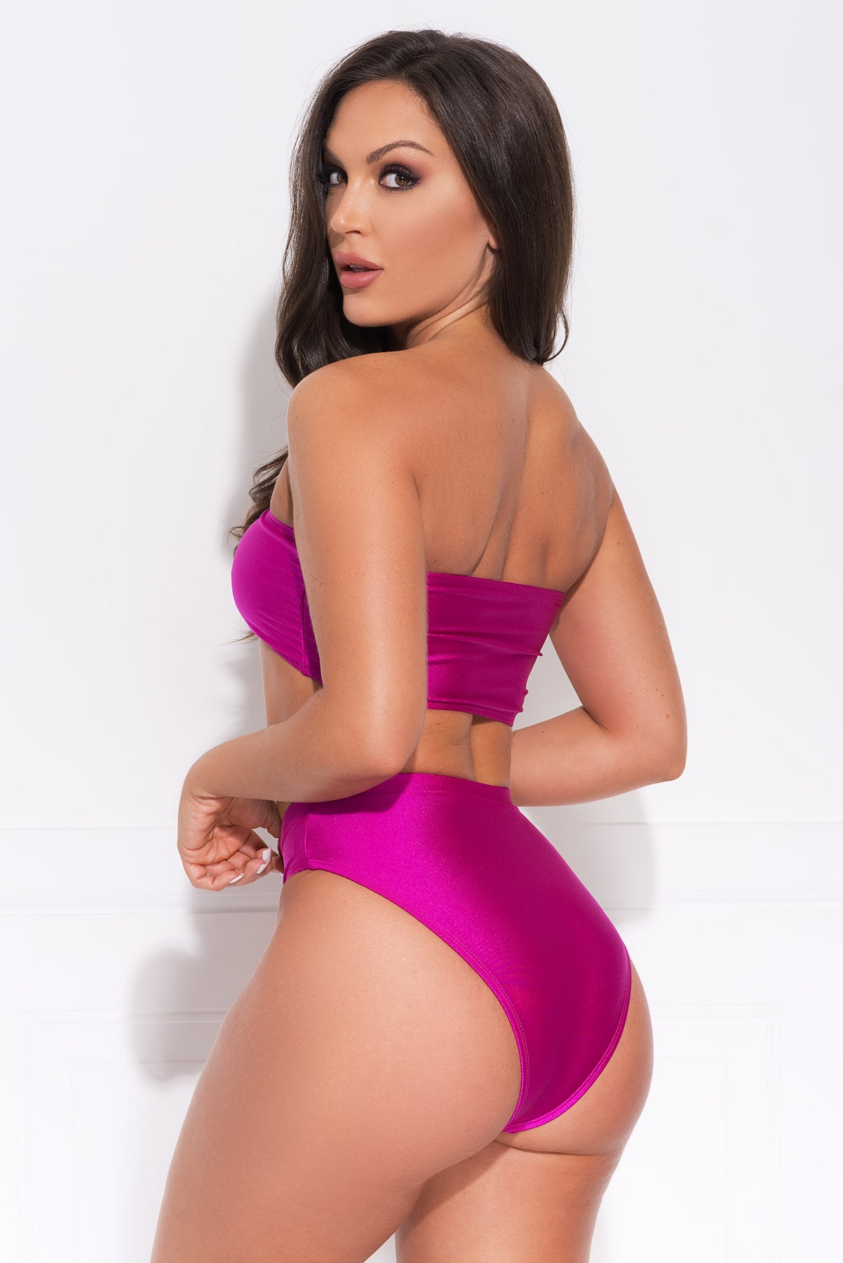 Balos Beach Two Piece Swimsuit - Hot Pink