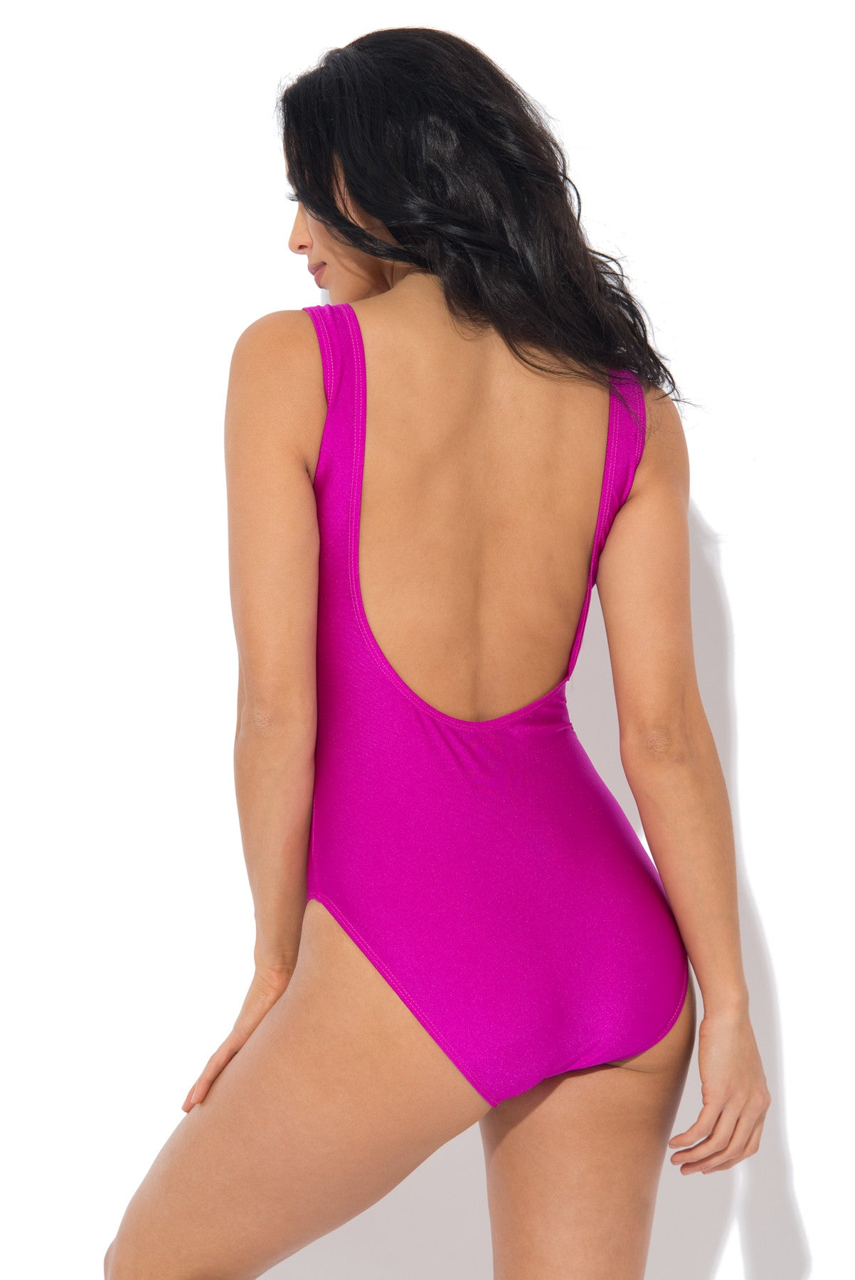 Mermaid One Piece Swimsuit PURPLE - Fashion Effect Store  - 3