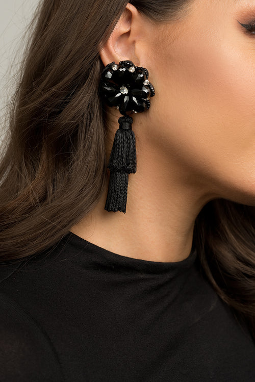 Caitlyn Black Earrings