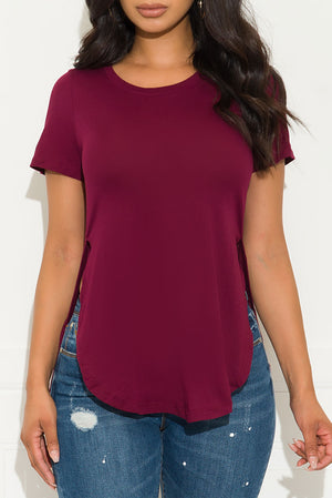 Fall In Line Top Burgundy