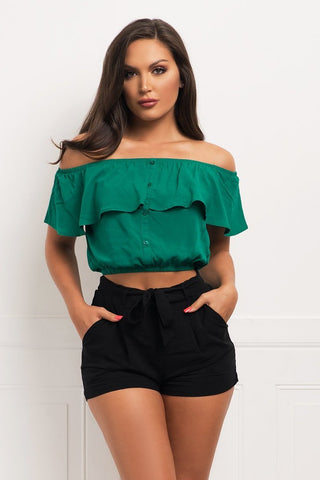 Nora Off Shoulder Top - Black