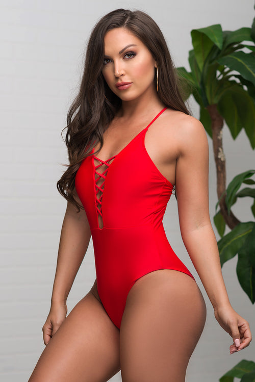 Infinite Cove One Piece Swimsuit Red