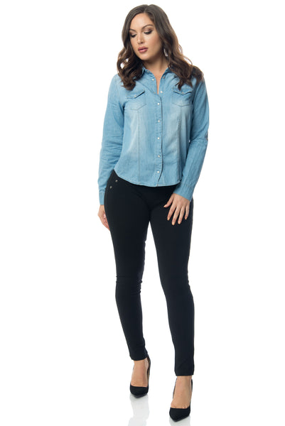 Lucy Denim Blouse - Fashion Effect Store  - 4